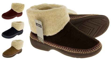 fur lined boot slippers womens fur lined boot slippers outdoor sole winter