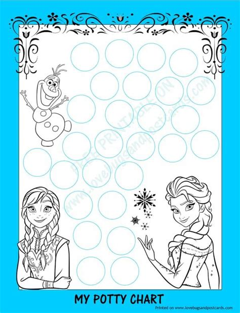 printable frozen sticker chart frozen potty chart free printable potty training tips