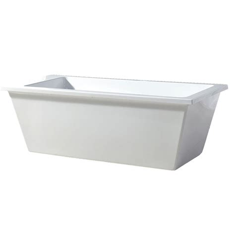 bathtubs in houston ove decors 5 75 ft acrylic freestanding flatbottom non whirlpool bathtub in white