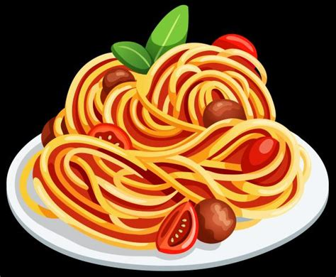 pasta clipart spaghetti clipart pencil and in color spaghetti