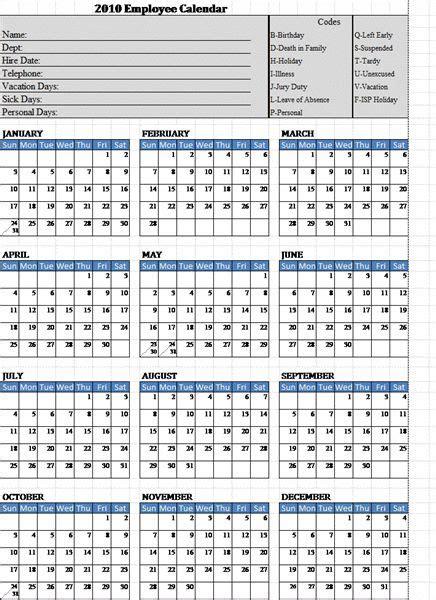 employee attendance calendar template calendar printable calendar template calendar