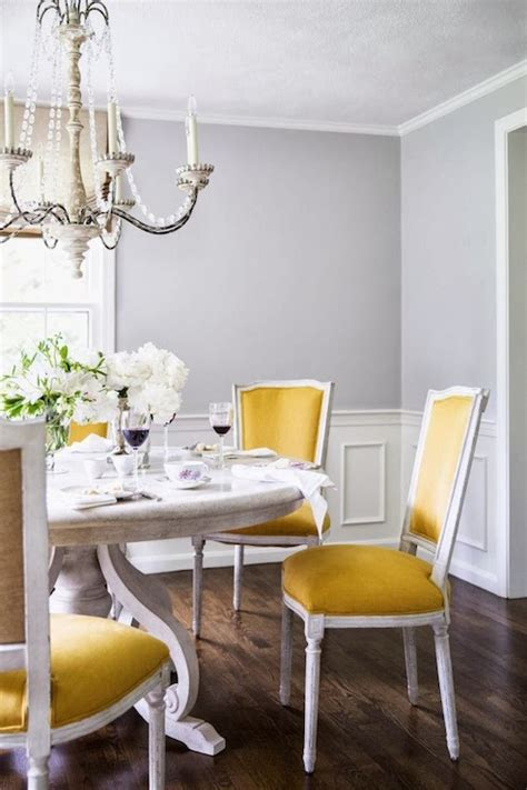 pinterest pictures of yellow end tables with gray yellow dining chairs transitional dining room farrow