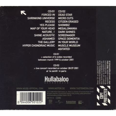 download mp3 full album muse hullabaloo soundtrack disc 2 muse mp3 buy full tracklist
