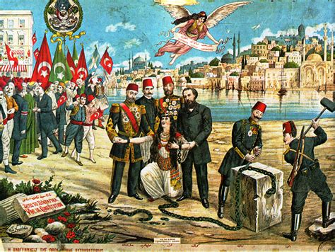 File Greek Lithograph Celebrating The Ottoman Constitution
