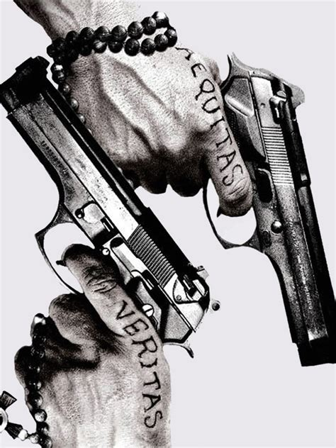 guns tattoos aequitas veritas android wallpaper free download