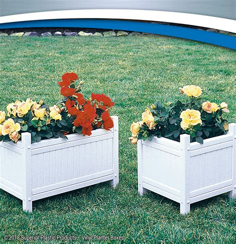 vinyl planter boxes high quality vinyl planter boxes superior plastic products
