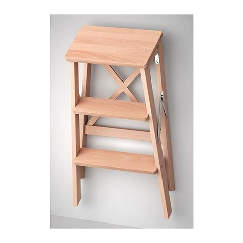ikea folding step stool bekv 196 m stepladder 3 steps beech stools solid wood and