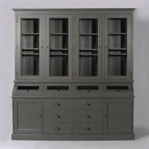 Beau Meuble Colonne Pour Cuisine #4: meuble-vaisselier-trappes-bois-gris-fonce-01.jpg