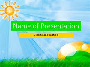 Powerpoint Template Children by Animated Sun Animated Child S Template For Presentation