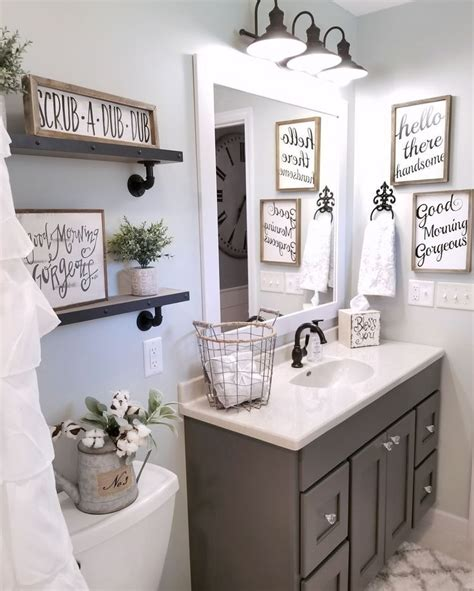 ideas to decorate bathroom walls farmhouse bathroom by blessed ranch farmhouse decor