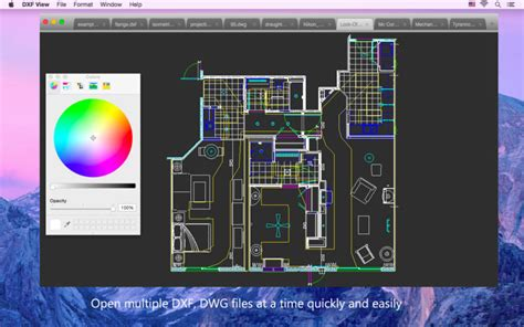 how to open dwg file dxf view open view dxf and dwg files sul mac app store