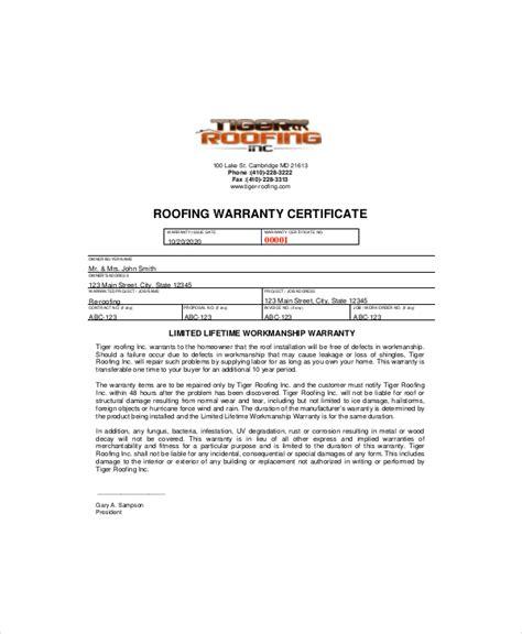 certificate of guarantee template warranty certificate templates free premium sles