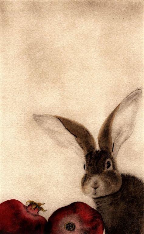 bunny d carol conard barton b 1946 rabbit with pomegranates