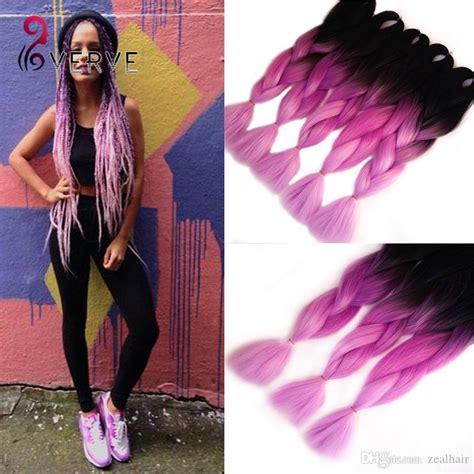 ombre human braiding hair two tone ombre purple braiding hair24 beautiful