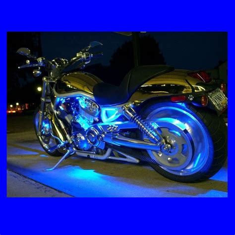 led blue lights for motorcycles motorcycle led lights blue strips bright led lighting kit