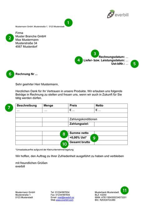 Privatperson Rechnung Mit Mwst Ausstellen rechnung muster gratis downloaden everbill magazin