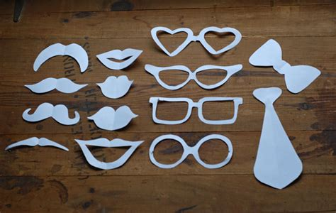 Handmade Photo Booth Props - diy photo booth props wedding tutorial