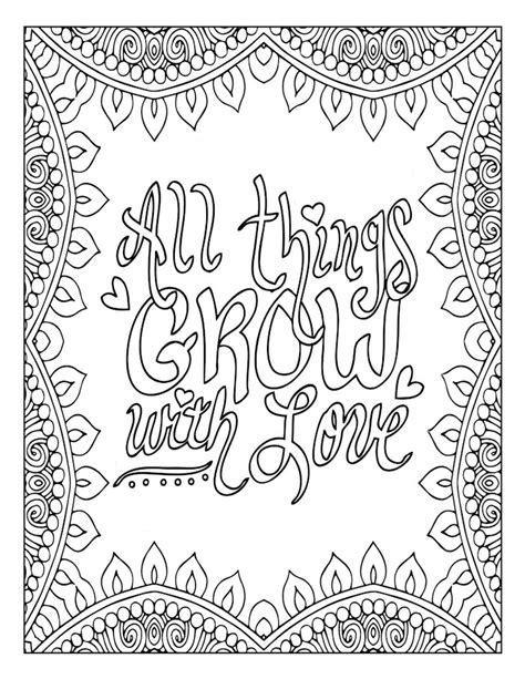 mandala coloring book with quotes motivational word coloring page inspirational