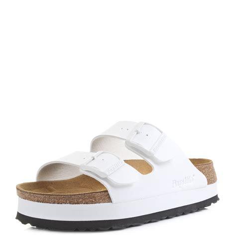 narrow womens sandals womens birkenstock arizona papillio white narrow platform
