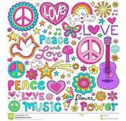 Garabatos Psicod&233licos Maravillosos Del Cuaderno Flower Power De