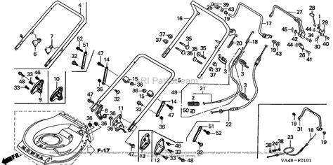 honda hrc216 parts honda hrc216k1 sxa lawn mower usa vin mzan 6100001 to