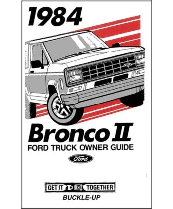 1984 ford bronco ii owners manual