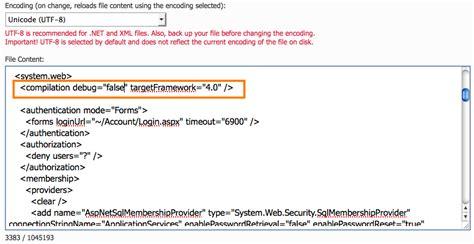 tutorial web config asp net disable debugging mode for asp applications arvixe blog