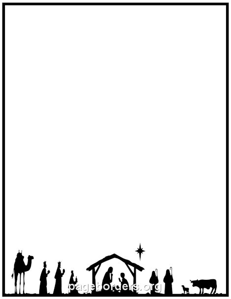 nativity border clip art page border  vector graphics christmas border  christmas