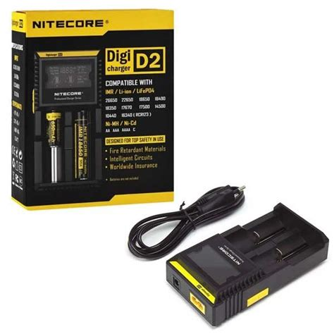 Nitecore Charger For Vaporizer nitecore d2 digital battery charger ezvapes
