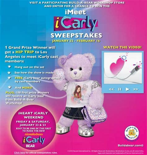 Icarly Com Sweepstakes - icarly build a bear sweepstakes 171 kuronekko creative