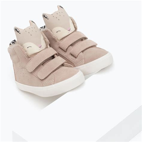 zara shoes kid leather basketball boots with squirrel design shoes
