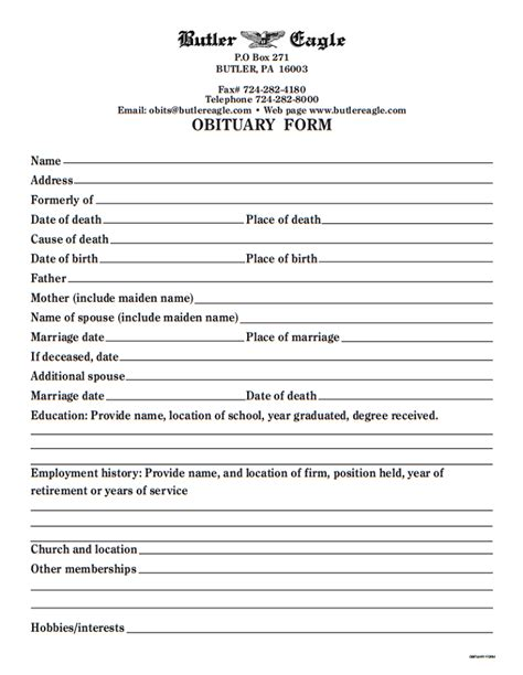 newspaper obituary template 15 obituary template sles templates assistant