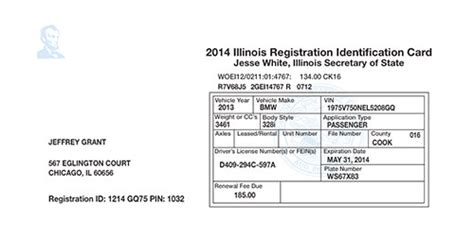 illinois id card template transportation hpr graphics