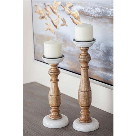 new traditional woodworker new traditional stained wood and marble candle holders