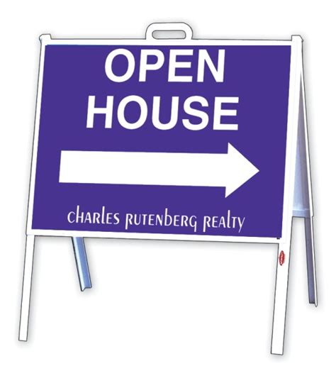 real estate a frame open house signs charles rutenberg realty real estate open house a frame sign and panel unit 24ga