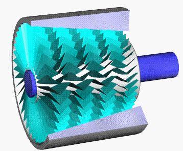 axial compressor animated