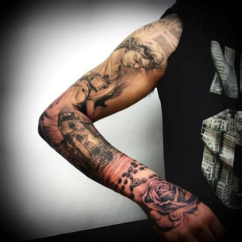 religious tattoos for men on arm religious sleeve tattoos designs ideas and meaning