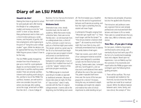 State Jd Mba Program by Executive Mba And Professional Mba At Louisiana State