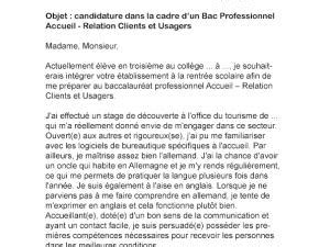 Lettre De Motivation Ecole Bac Pro Lettre De Motivation Bac Pro Assp Par Lettreutile