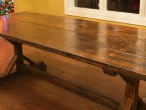 ana white rustic farmhouse table from let s just build a