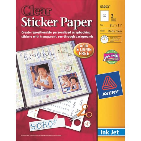 printable sticker paper kmart avery m clear re sticker project papr home crafts