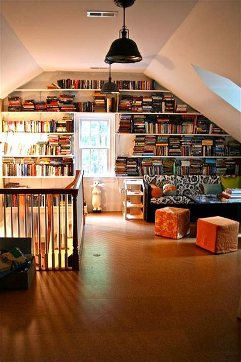 attic library decorations