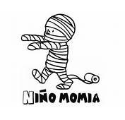 Dibujo De Ni&241o Momia Para Pintar En Carnaval Con Tus Hijos