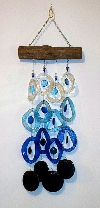 Handmade Glass Wind Chimes - handmade glass wind chimes made from recycled beverage