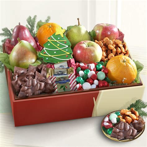 deluxe holiday goodies and fruit gift aa gifts baskets