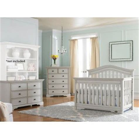 Grey Crib And Dresser Set by Bonavita Westfield 3 Nursery Set In Linen Gray