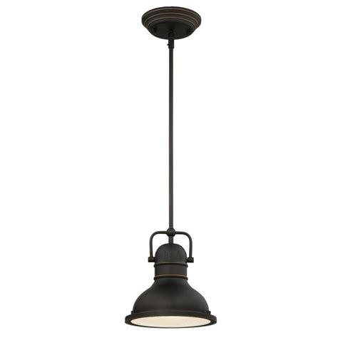 Pendant Light Bronze Westinghouse Boswell 1 Light Rubbed Bronze With Highlights Led Mini Pendant 63082a The