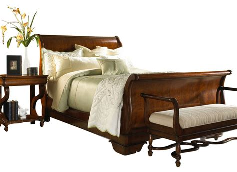platform sleigh bed louis philippe classics california king sleigh bed with