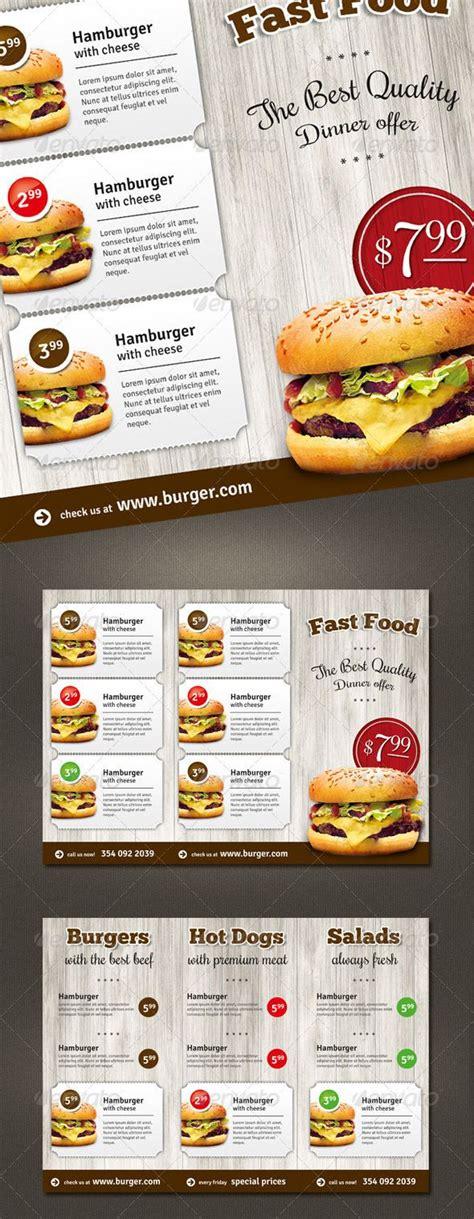 fast food menu design templates trifold fast food menu flyer menu food