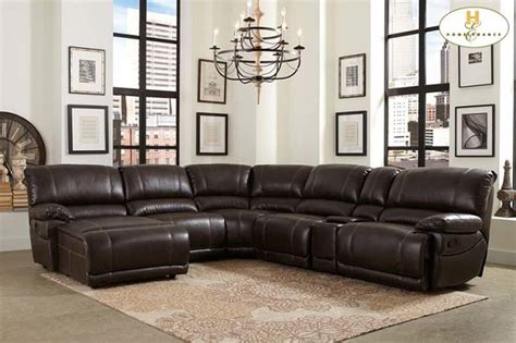 modern home theater chaise console reclining brown modern brown leather reclining sectional sofa recliner